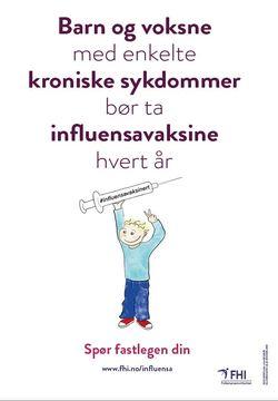 influensaplakat barn 2019