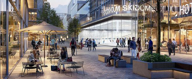 NU SER det äntligen ut till att Stockholm skall få en inomhusanläggning för längdskidåkning. Foto: SERNEKE