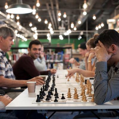Bilde av sjakkspillere