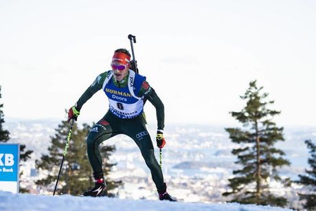 23.03.2019, Oslo, Norway (NOR):Benedikt Doll (GER) - IBU world cup biathlon, pursuit men, Oslo (NOR). www.nordicfocus.com. © Manzoni/NordicFocus. Every downloaded picture is fee-liable.