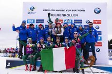 24.03.2019, Oslo, Norway (NOR):Dorothea Wierer (ITA), Lisa Vittozzi (ITA), Federica Sanfilippo (ITA), Nicole Gontier (ITA), (l-r) - IBU world cup biathlon, cups, Oslo (NOR). www.nordicfocus.com. © Manzoni/NordicFocus. Every downloaded picture is fee-lia