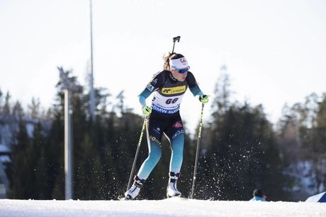 21.03.2019, Oslo, Norway (NOR):Caroline Colombo (FRA) - IBU world cup biathlon, sprint women, Oslo (NOR). www.nordicfocus.com. © Manzoni/NordicFocus. Every downloaded picture is fee-liable.