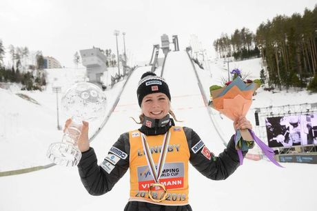 24.03.2019, Chaikovsky, Russia (RUS):Maren Lundby (NOR) - FIS world cup ski jumping ladies, cups, Chaikovsky (RUS). www.nordicfocus.com. © Tumashov/NordicFocus. Every downloaded picture is fee-liable.