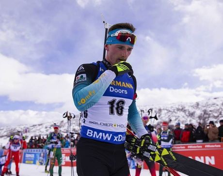 16.02.2019, Soldier Hollow, United States of America (USA):Fabien Claude (FRA) -  IBU world cup biathlon, pursuit men, Soldier Hollow (USA). www.nordicfocus.com. © Manzoni/NordicFocus. Every downloaded picture is fee-liable.