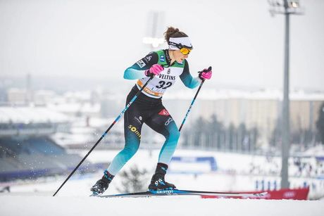 09.02.2019, Lahti Finland (FIN):Delphine Claudel (FRA) - FIS world cup cross-country, individual sprint, Lahti (FIN). www.nordicfocus.com. © Modica/NordicFocus. Every downloaded picture is fee-liable.