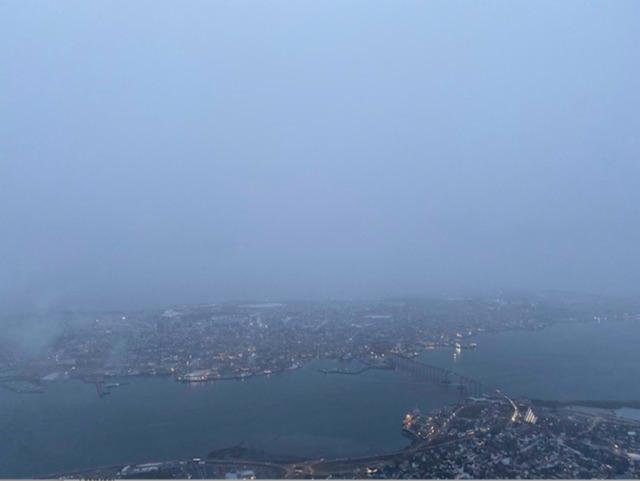 Utsikt fra toppen. Foto: Tromsø kommune.