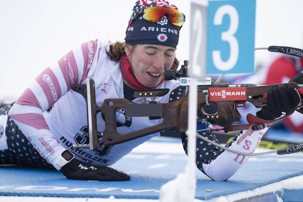 15.12.2018, Hochfilzen, Austria (AUT):Susan Dunklee (USA) - IBU world cup biathlon, pursuit women, Hochfilzen (AUT). www.nordicfocus.com. © Manzoni/NordicFocus. Every downloaded picture is fee-liable.