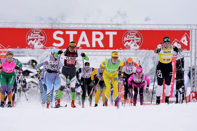 DAMFÄLTEN har ibland varit nästan pinsamt tunna i Visma Ski Classics. Men nu växer andelen damer i tävlingarna. Foto: MAGNUS ÖSTH