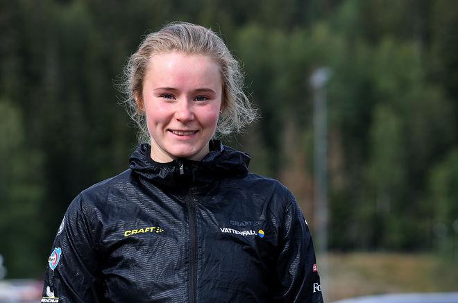 ALICIA PERSSON är numera ganska ensam toppåkare i den gamla storklubben Stockviks SF från Sundsvall. Hon har ett JVM-brons i stafett från Goms i Schweiz 2018. Foto/rights: KJELL-ERIK KRISTIANSEN/kekstock.com