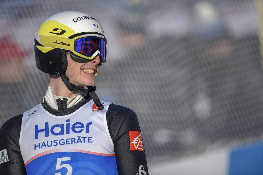 23.02.2019, Innsbruck, Austria (AUT):Jonathan Learoyd (FRA) - FIS nordic world ski championships, ski jumping, individual HS130, Innsbruck (AUT). www.nordicfocus.com. © THIBAUT/NordicFocus. Every downloaded picture is fee-liable.