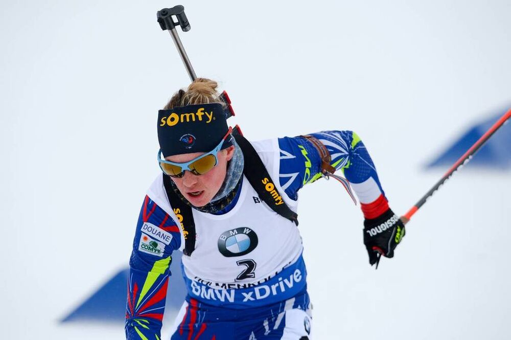 06.03.2016, Oslo, Norway (NOR):Marie Dorin Habert (FRA) - IBU world championships biathlon, pursuit women, Oslo (NOR). www.nordicfocus.com. © Tumashov/NordicFocus. Every downloaded picture is fee-liable.