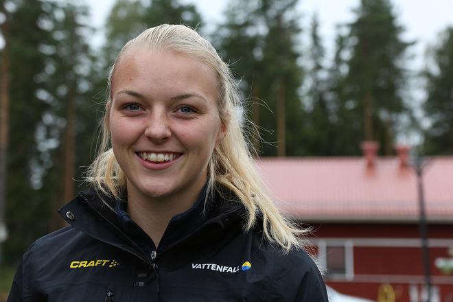 LOUISE LINDSTRÖM tävlar för Högbo GIF och är en glädjespridare i Team Svenska Spel. Foto/rights: KJELL-ERIK KRISTIANSEN/kekstock.com