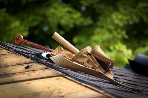 Verktøybelte på tak