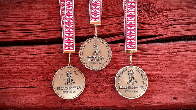 VASALOPPETs nya medaljer från 2020. Foto: VASALOPPET