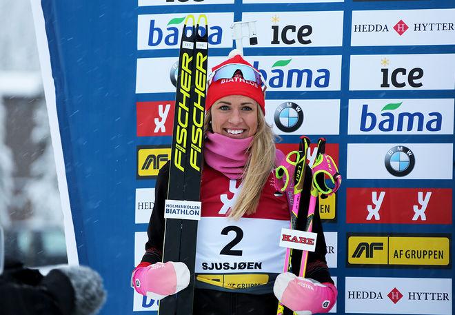 INGELA ANDERSSON tog en sensationell 2:a plats i den norska säsongspremiären med nästan hela världseliten på plats. Foto/rights: JENS AAS/kekstock.com