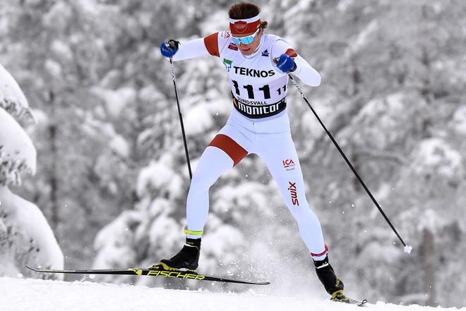 OLOF JONSSON vann sprinten i Bruksvallarna under söndagen. Foto/rights: ROLF ZETTERBERG/kekstock.com