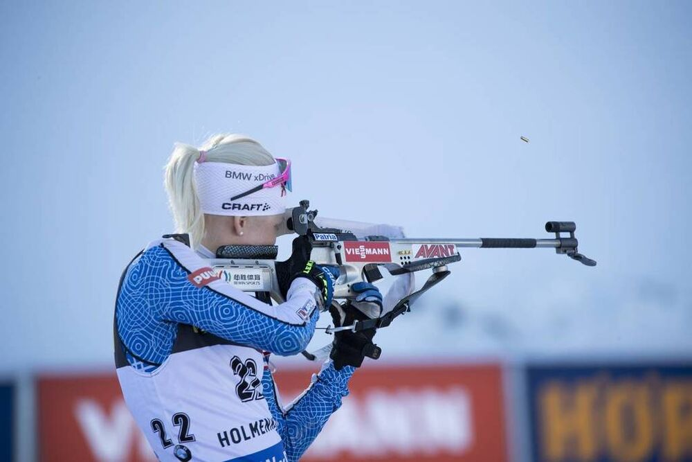 21.03.2019, Oslo, Norway (NOR):Kaisa Makarainen (FIN) - IBU world cup biathlon, sprint women, Oslo (NOR). www.nordicfocus.com. © Manzoni/NordicFocus. Every downloaded picture is fee-liable.