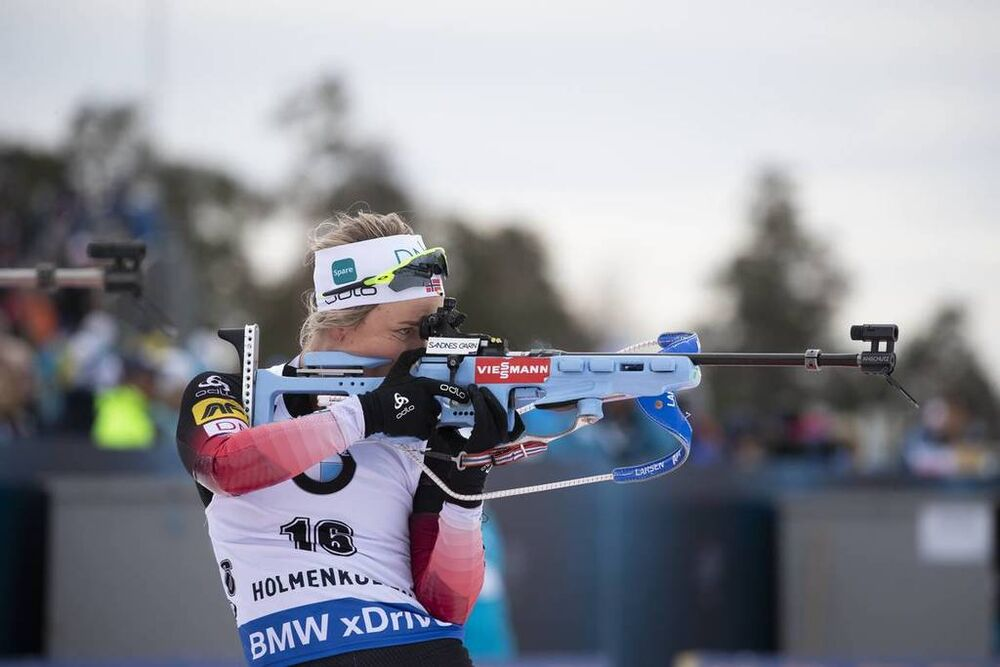 24.03.2019, Oslo, Norway (NOR):Tiril Eckhoff (NOR) - IBU world cup biathlon, mass women, Oslo (NOR). www.nordicfocus.com. © Manzoni/NordicFocus. Every downloaded picture is fee-liable.