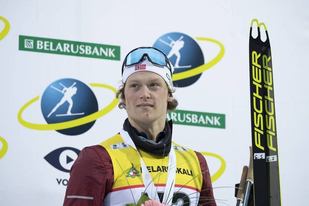 20.02.2019, Minks-Raubichi, Belarus (BLR):Endre Stroemsheim (NOR) - IBU Open European championships biathlon, individual men, Minsk-Raubichi (BLR). www.nordicfocus.com. © Manzoni/NordicFocus. Every downloaded picture is fee-liable.
