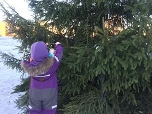 Barna i fem av Vestby kommunes barnehager står for julepynten i år!