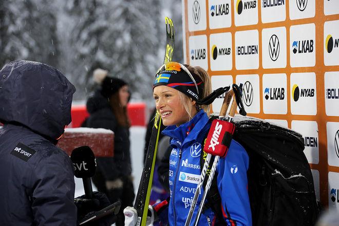 FRIDA KARLSSON i rampljuset igen. Nu med seger i Gällivarepremiären före Charlotte Kalla. Foto/rights: KJELL-ERIK KRISTIANSEN/kekstock.com