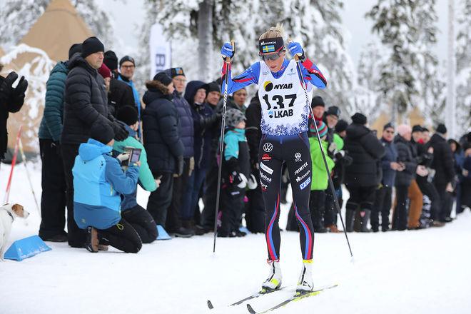 FRIDA KARLSSON har vunnit båda distansloppen i Gällivare och kommer att göra en mycket spännande start i världscupspremiären i Ruka nästa helg. Foto: MICHAEL RENSTRÖM