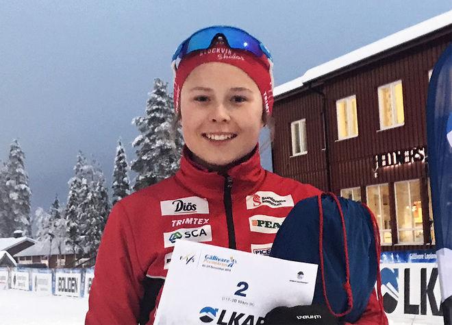 TOVE ERICSSON, Stockviks SF har precis gått in i juniorklassen, men hon var ändå tvåa i hårt motstånd i Gällivare under lördagen. Foto/rights: KJELL-ERIK KRISTIANSEN/kekstock.com