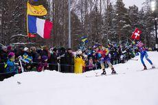 16.03.2019, Oestersund, Sweden (SWE):Anastasiya Merkushyna (UKR), Lisa Vittozzi (ITA), (l-r) - IBU world championships biathlon, relay women, Oestersund (SWE). www.nordicfocus.com. © Manzoni/NordicFocus. Every downloaded picture is fee-liable.