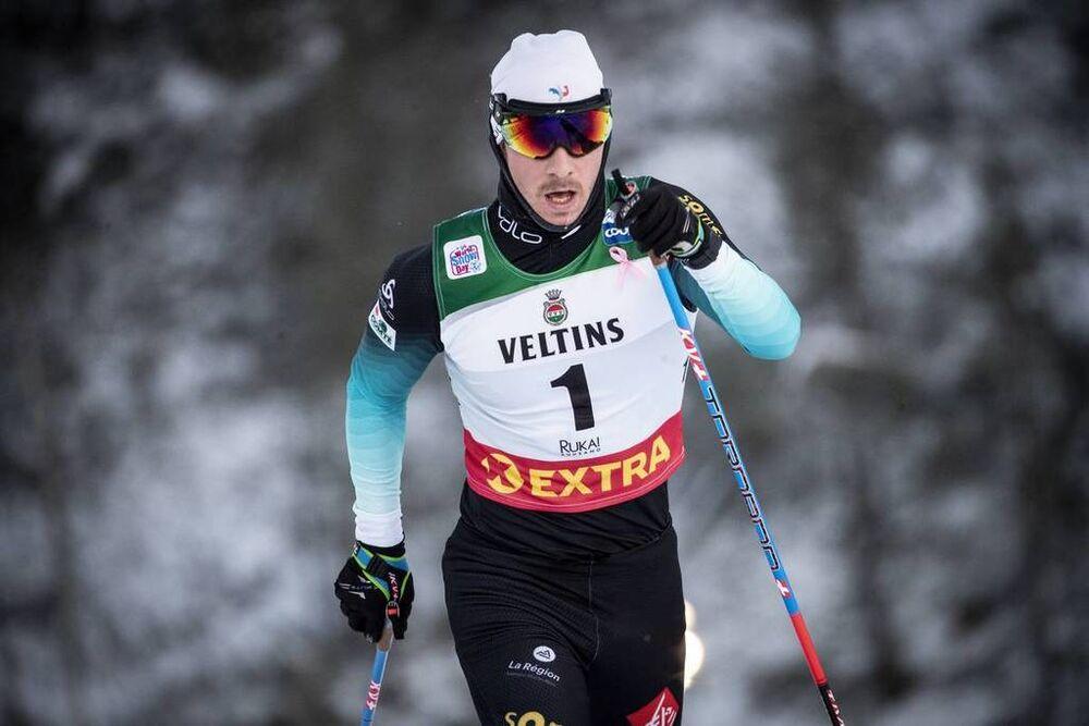 25.11.2018, Ruka, Finland (FIN):Valentin Chauvin (FRA) - FIS world cup cross-country, 15km men, Ruka (FIN). www.nordicfocus.com. © Modica/NordicFocus. Every downloaded picture is fee-liable.