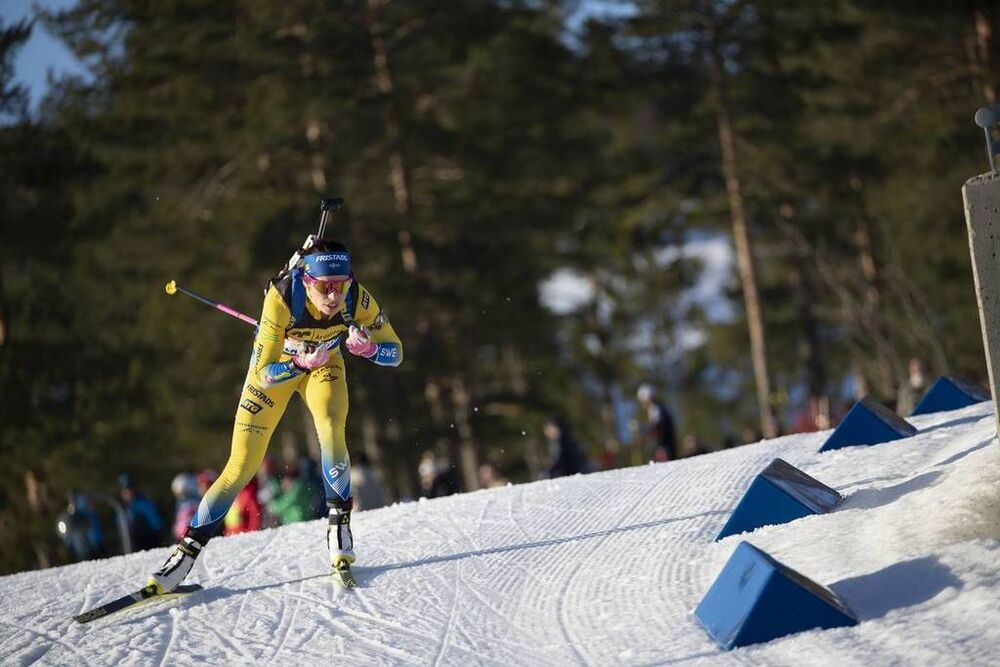 21.03.2019, Oslo, Norway (NOR):Elisabeth Hoegberg (SWE) - IBU world cup biathlon, sprint women, Oslo (NOR). www.nordicfocus.com. © Manzoni/NordicFocus. Every downloaded picture is fee-liable.