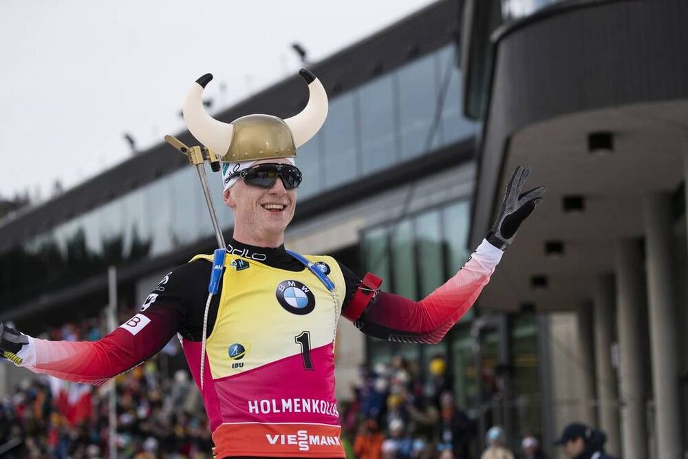 24.03.2019, Oslo, Norway (NOR):Johannes Thingnes Boe (NOR) - IBU world cup biathlon, mass men, Oslo (NOR). www.nordicfocus.com. © Manzoni/NordicFocus. Every downloaded picture is fee-liable.