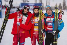 01.12.2019, Ruka, Finland (FIN):Emil Iversen (NOR) - FIS world cup cross-country, pursuit men, Ruka (FIN). www.nordicfocus.com. © Vianney THIBAUT/NordicFocus. Every downloaded picture is fee-liable.01.12.2019, Ruka, Finland (FIN):Johannes Hoesflot Klae