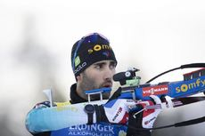 01.12.2019, Oestersund, Sweden, (SWE):Martin Fourcade (FRA) - IBU world cup biathlon, sprint men, Oestersund (SWE). www.nordicfocus.com. © Manzoni/NordicFocus. Every downloaded picture is fee-liable.