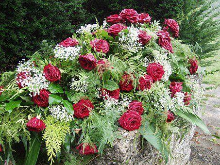 krans, begravelse