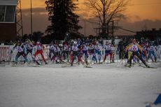 30.11.2019, Oestersund, Sweden, (SWE):The field of the mixed relay starting - IBU world cup biathlon, relay mixed, Oestersund (SWE). www.nordicfocus.com. © Nico Manzoni/NordicFocus. Every downloaded picture is fee-liable.