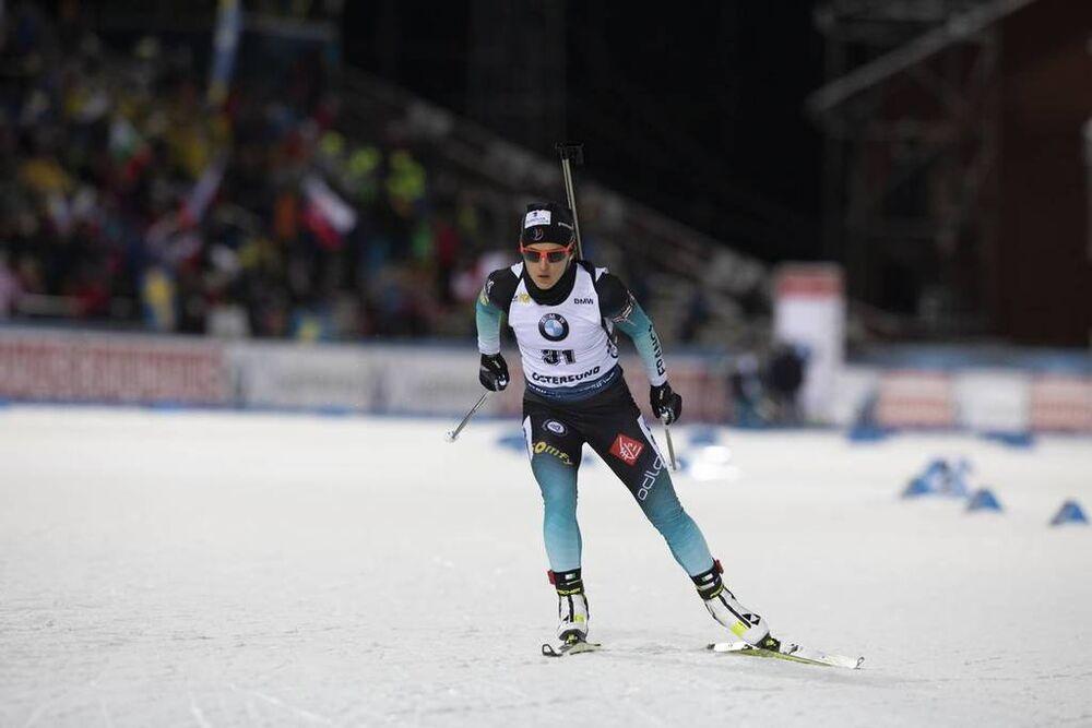 01.12.2019, Oestersund, Sweden, (SWE):Celia Aymonier (FRA) - IBU world cup biathlon, sprint women, Oestersund (SWE). www.nordicfocus.com. © Manzoni/NordicFocus. Every downloaded picture is fee-liable.
