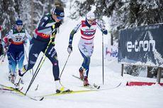 29.11.2019, Ruka, Finland (FIN):Nadine Faehndrich (SUI), Stina Nilsson (SWE), (l-r)  - FIS world cup cross-country, individual sprint, Ruka (FIN). www.nordicfocus.com. © Modica/NordicFocus. Every downloaded picture is fee-liable.