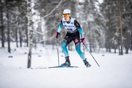 17.03.2019, Falun, Sweden (SWE):Delphine Claudel (FRA) - FIS world cup cross-country, 10km women, Falun (SWE). www.nordicfocus.com. © Modica/NordicFocus. Every downloaded picture is fee-liable.