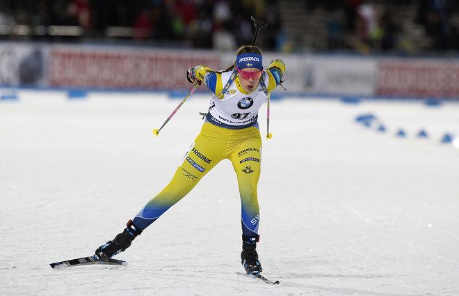 ELVIRA ÖBERG imponerade i sprinttävlingen och var mycket när att slå storsyster Hanna. Nu kommer en spännande distanstävling för den tidigare juniorvärldsmästarinnan. Foto: NORDIC FOCUS