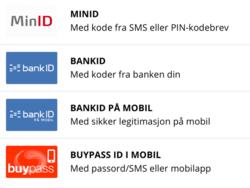 Valgfri innloggingsmetode gjennom ID-porten.