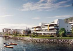 Engersand havn, 10 min fra Husbankens hovedkvarter i Drammen. Illustrasjon: engersandhavn.no