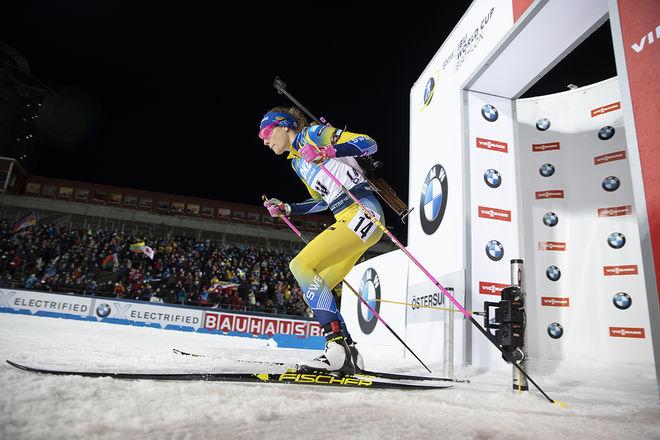 HANNA ÖBERG fick tre tilläggsminuter och slutade 10:a på favoritdistansen 15 km distans i Östersund. Foto: NORDIC FOCUS
