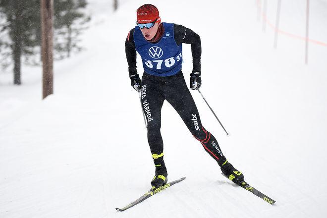 JOHAN EKBERG, Nacka Värmdö på väg mot segern i juniorernas 15-kilometerslopp i Idre. Foto/rights: ROLF ZETTERBERG/kekstock.com