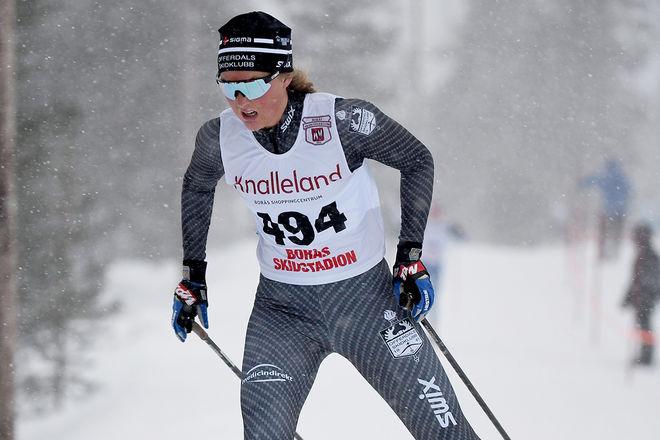 TILDE BÅNGMAN, Offerdal avslutade starkare än Tove Ericsson från Stockvik och vann damjuniorklassen i Idre med under sekunden. Foto/rights: ROLF ZETTERBERG/kekstock.com