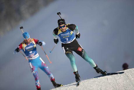 15.12.2018, Hochfilzen, Austria (AUT):Simon Desthieux (FRA) - IBU world cup biathlon, pursuit men, Hochfilzen (AUT). www.nordicfocus.com. © Manzoni/NordicFocus. Every downloaded picture is fee-liable.