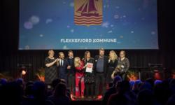 Prisen Årets frivillighetskommune 2019 går til Flekkefjord kommune. Heder og ære også til kommunene Eid og Lier som var de øvrige finalistene i kåringen.  Foto: Birgitte Heneide, Frivillighet Norge