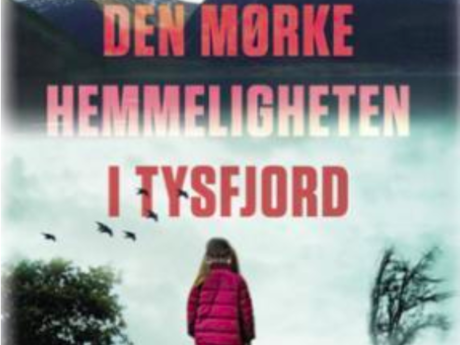 Utsnitt fra forsiden av Anne-Britt Harsems bok: Den mørke hemmeligheten i Tysfjord