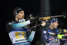 07.12.2019, Oestersund, Sweden, (SWE):Simon Desthieux (FRA) - IBU world cup biathlon, relay men, Oestersund (SWE). www.nordicfocus.com. © Manzoni/NordicFocus. Every downloaded picture is fee-liable.