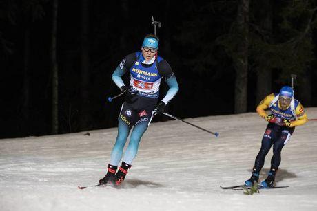 07.12.2019, Oestersund, Sweden, (SWE):Emilien Jacquelin (FRA), Erik Lesser (GER) - IBU world cup biathlon, relay men, Oestersund (SWE). www.nordicfocus.com. © Nico Manzoni/NordicFocus. Every downloaded picture is fee-liable.