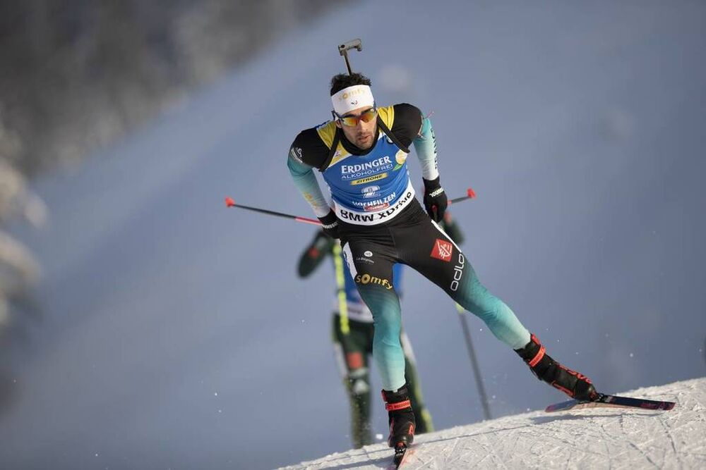 15.12.2018, Hochfilzen, Austria (AUT):Martin Fourcade (FRA) - IBU world cup biathlon, pursuit men, Hochfilzen (AUT). www.nordicfocus.com. © Manzoni/NordicFocus. Every downloaded picture is fee-liable.